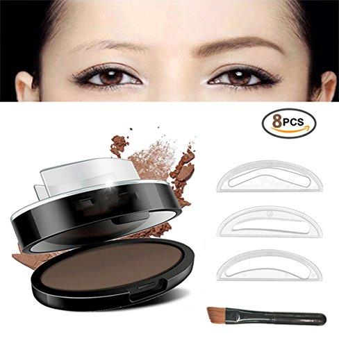 Eyebrow Stamp Powder Stamper Waterproof Long Lasting Brown Easy Press Natural Shape In SecondsBeige