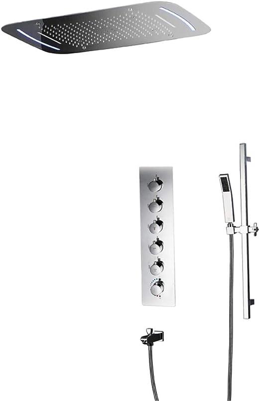 Cabezal de ducha ducha empotrada en la pared ducha empotrada LED ...