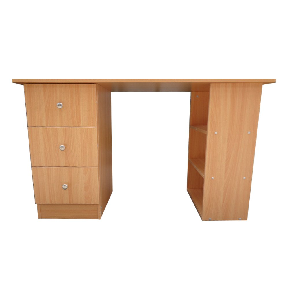 Eliza Tinsley Home Office Workstation with Three Drawers - Beech BDW/D100/BE