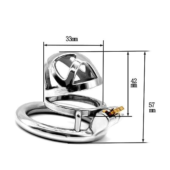 XUDONG Hombre Cerradura de castidad con una Cerradura de castidad de Acero Inoxidable pene Anti-Cheat Anillo del pene Anti-derramamiento,50mm: Amazon.es: ...