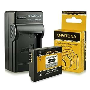 Cargador + Batería DMW-BLH7 / DMW-BLH7E para Panasonic Lumix DMC-GM1 [Li-Ion - 600mAh - 7.2V]