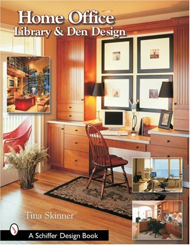 Home Office, Liry, and Den Design: Tina Skinner: 9780764318429 ... on luxury home study room design, home office study design, traditional study room interior design, home office den study,