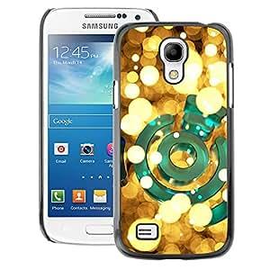 A-type Arte & diseño plástico duro Fundas Cover Cubre Hard Case Cover para Samsung Galaxy S4 Mini i9190 (NOT S4) (Lights Yellow Green Bright Golden Night)