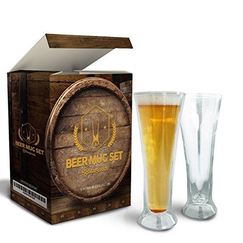 stargoods-double-walled-beer-glasses-set-of-2-mugs-bottle-opener-ring