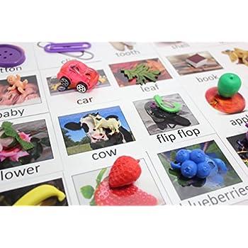 Amazon.com: Montessori Object Match with Cards- Miniature Objects ...