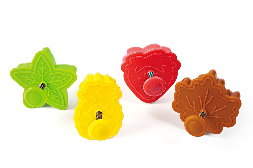 Silikomart Mini Cookie Cutters with Spring Ejection Feature, Set of 4, Assorted Christmas ACC 092