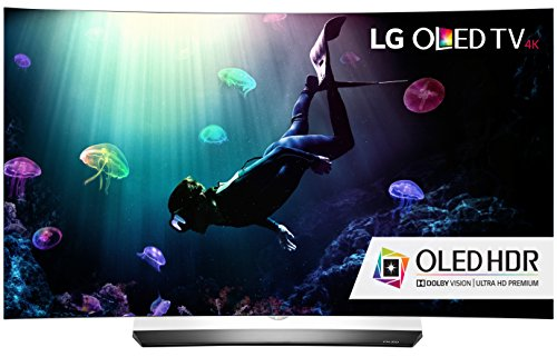 LG Electronics OLED65C6P Curved 65-Inch 4K Ultra HD Smart OLED TV (2016 Model)