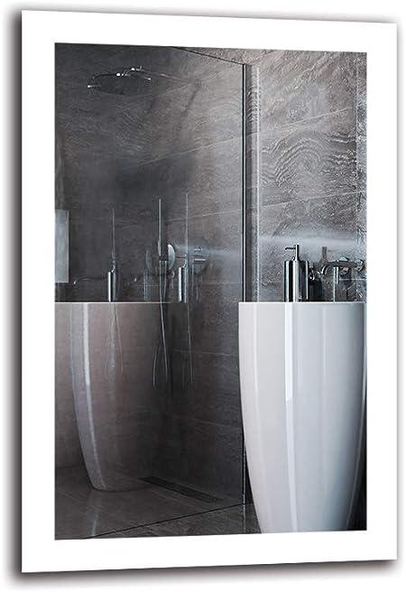 Specchio a Muro Pronto per Essere Appeso Specchio per Bagno ARTTOR M1CP-40-40x40 Specchio con Illuminazione Dimensioni dello Specchio 40x40 cm Specchio LED Premium Bianco Caldo 3000K