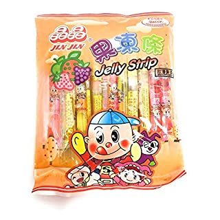 Jin Jin Fruit Jelly Filled Strip Straws Candy - Many Flavors! (3 Pack)