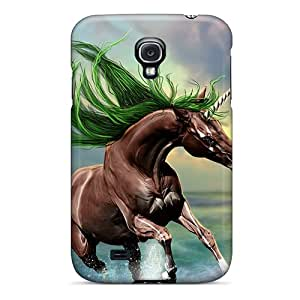 New AHUXSCR2071TDgOB Young Horse Skin Case Cover Shatterproof Case For Galaxy S4