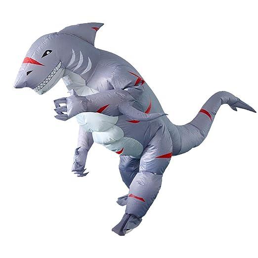JIANG BREEZE Traje Inflable de tiburón, Disfraces de tiburón ...