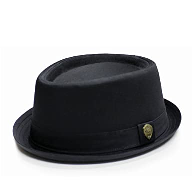 2b7999a3f51 City Hunter Pmt112 Cotton Plain Porkpie Fedora Hats - 2 Colors (S/M SIZE