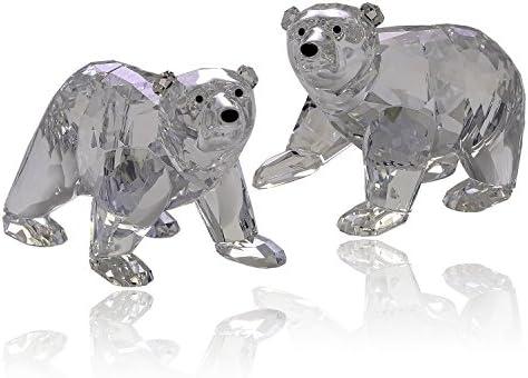 Swarovski Polar Bear Cubs, Crystal Moonlight Crystal Figurine – Retired 1079156