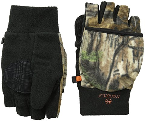 Manzella Men's Hunter Convertible Gloves, Realtree Xtra, Medium