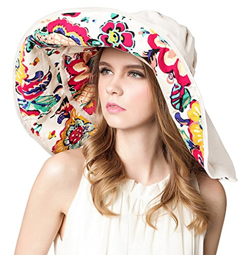 Bienvenu Women Summer Sun Hat Wide Brim Beach Bohemia Foldable Cap Visor