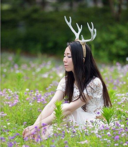 White Elk Antlers Hair Band (Antlers Headband)