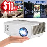 Portable Video Projector 1500 Lumens LED LCD HD 1080p Multimedia Home Theater Projector with Keystone Built in Speaker 50,000hrs Led Lamp- HDMI USB VGA TV 3.5mm for Smartphone PC DVD Player Xbox PS4
