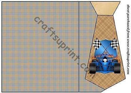 Azul F1 llamas de Coche 1 tarjeta de corbata por Stephen Poore ...