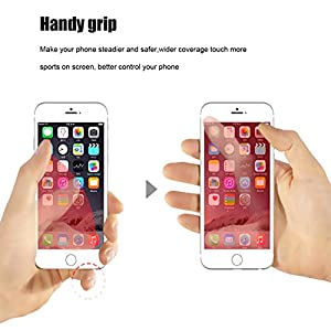 [2 Pack]Finger Ring Stand CaseHQ 360 degree Rotary Cell Phone Adjustable Ring Stand Grip Mount Kickstand for iPhone X 8/8 Plus, Galaxy S9 S9PLUS S8/S8 Plus and Almost All Cases/Phones (Black+rosegold)