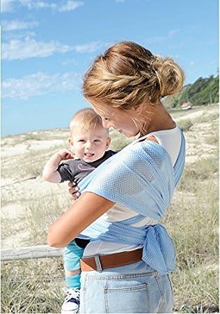 de style élégant 60% pas cher gros en ligne Echarpe de portage légère HIN-YARI Bleu ciel: Amazon.fr ...