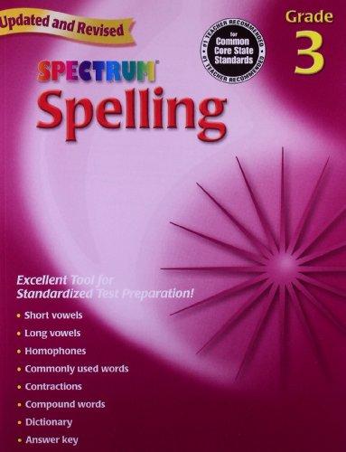 Spectrum Spelling, Grade 3 (Halloween Spelling Words Grade 6)