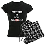 CafePress Protected by Dean Winchester Womens Novelty Cotton Pajama Set, Comfortable PJ Sleepwear
