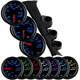 1994-2002 Ford Mustang Triple Package w/ Black 7 Color Oil Pressure, Volt & Water Temperature Gauges