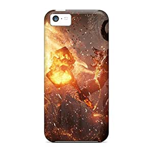 Pretty TOBWp4693xYdAr Iphone 5c Case Cover/ Fire Monster Series High Quality Case