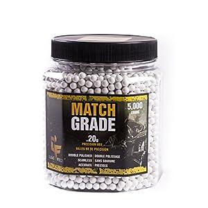 Crosman 20GPW5J Match Grade BBS, White, 6.0mm