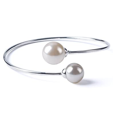 mother bridesmaid of bangles sterling jewelry bangle silver the bracelet bride mothers pearl gift bridal floating media