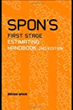 Spon's First Stage Estimating Handbook, Spain, Bryan, 0415386195