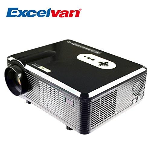 Excelvan CL720 3000 Lumens HD Home Theater Multimedia LCD Projector 1080 HDMI/Analog TV/VGA/AV(Black)
