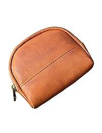 Fmeida Leather Coin Purse Pouch Zipper Change Holder Wallet for Women Girls
