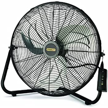 amazon com maxxair hvff 20 ups high velocity 20 inch floor fan lasko stanley 655650 20 inch high velocity floor or wall mount fan black
