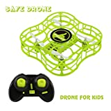5 ch rc helicopter - Drone for Kids Mini Safe RC Quadcopter with CF Headless Mode, Full Protection, 360 3D Flip, 4 CH 6 axis GYRO, Nano Helicopter FQ777 FQ03 CKCRC RTF Ideal Gift for Beginner Children - Green (Green)