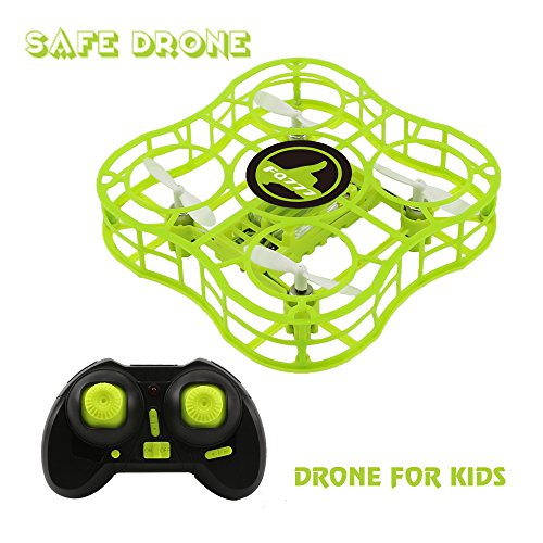 Drone for Kids Mini Safe RC Quadcopter with CF Headless Mode, Full Protection, 360 3D Flip, 4 CH 6 axis GYRO, Nano Helicopter FQ777 FQ03 CKCRC RTF Ideal Gift For Beginner Children – Green (green)