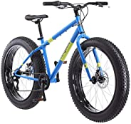 "Mongoose Men's Dolomite 26"" Wheel Fat Tire Bicycle, Blue, 18&qu"
