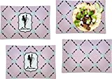 Diamond Dancers Set of 4 Rectangular Dinner Plates (Personalized)