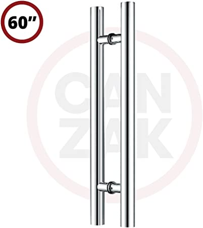 """Door Push Pull Long Handle Back to Back Stainless Steel 16/"""" 24/"""" 36/"""" 48/"""" 60/"""" 72/"""""""