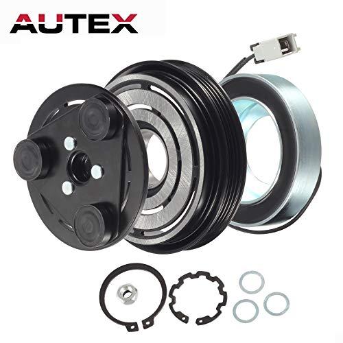 AUTEX AC A/C Compressor Clutch Coil Assembly Kit 73111FE021 73111FE040 Replacement for Saab 9-2X 2005 2006/Subaru Impreza 2003 2004 2005/Subaru Impreza 2004 2005 2006 2007/Subaru WRX 2004 2005-07