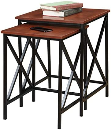 Convenience Concepts Tucson Nesting End Tables, Cherry Black