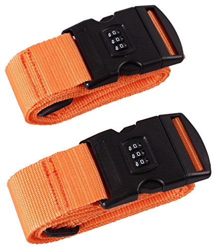 Cartman Luggage Straps Suitcase Belts Travel Bag Accessories 2Pack, 200cm 78inch -