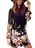 Women's Sheath Floral Print Chiffon Dress