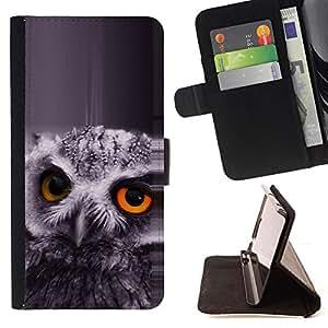 - The Orange Eye Owl/ Personalizada del estilo del dise???¡¯???¡Ào de la PU Caso de encargo del cuero del tir???¡¯????n del s - Cao - For Samsung Galaxy S