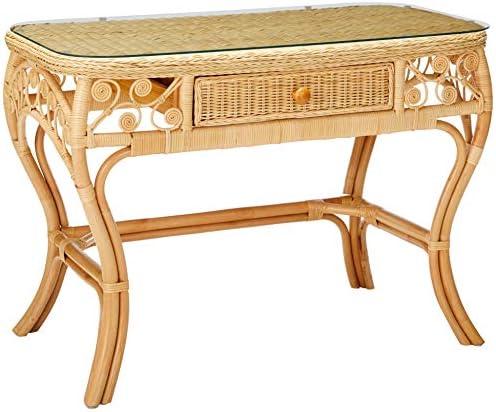 KOUBOO Peacock Rattan Dressing Table, Regular, Natural