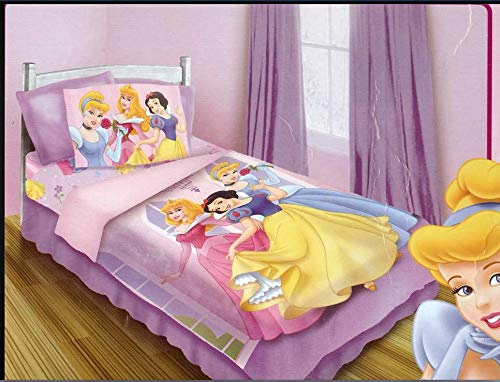 Princess Disney Twin Comforter and Sheets Set (Princess Snow White Bedding Set)