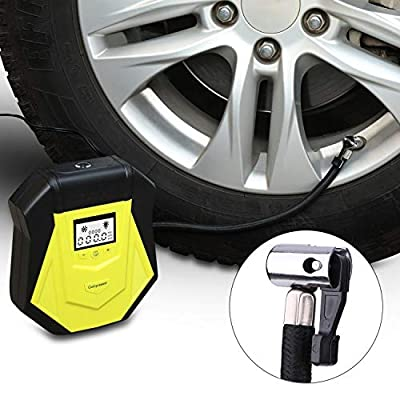 Air Compressor Tire Inflator, AWANFI DC 12V Car Air Compressor Portable Car Air Pump with LCD Display, LED light for Car Tires, Bicycles and Other Inflatables: Home Improvement