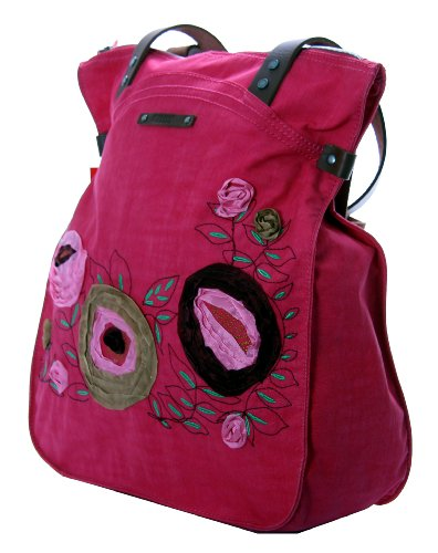 Oilily Flower Tapes Shopper Borsa Rosa
