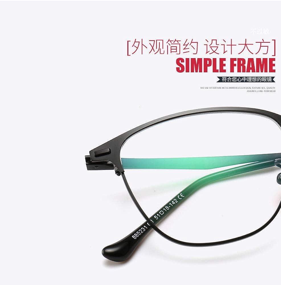 Anti-Blu-Ray Glasses Half-Frame Flat Mirror Literary Box No Degree Personality