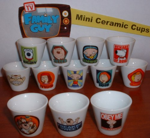 Family Guy Mini Cup/Mug Set of 12 - Family Guy Mug Shopping Results